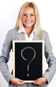 Blonde Woman has Questions about Porcelain Veneers