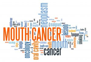 Mouth cancer (oral cancer) - serious illness word cloud concept.